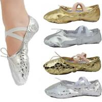 Women Adult Child Cross Strap Pointed Gymnastics Ballet Dance Shoes Slippers