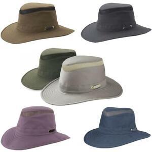 Tilley T4MO-1 Hikers Hat Mens Ladies Unisex Hats Khaki Blue Grey Purple UPF 50