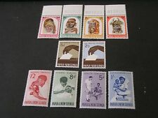 PAPUA NEW GUINEA, SCOTT # 178-181(4)+182/183(2)+184-187(4), 1964 VARIOUS ISS MNH