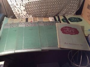 16 VINTAGE Books Art Institute Commercial Art and Design, 1943,47, 50 and 1951
