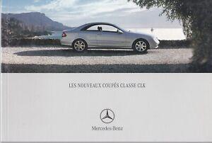 brochure 2002 MERCEDES-BENZ CLASSE CLK COUPÉS !!! ____ en français _____________