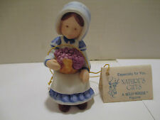 Vintage 1983 Holly Hobbie Figurine w/ Tag - Nature's Gifts Series IX - No. 30014