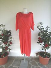 PIANOFORTE By MAX MARA Abito rosso in seta / dress red  silk    46 IT