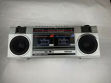 Sanyo MW200 Retro Boombox (Dual Cassettes Do Not Work) Radio Works Excellent!