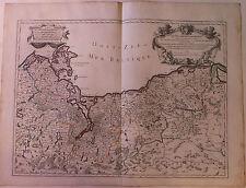 Duché de Poméranie Allemagne Pologne carte map par H. Jaillot  XVIIIème s
