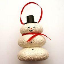 Enchanting White Sea Urchin Snowman Ornament - Popular hand-made Christmas Decor