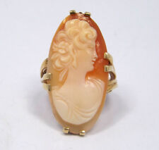 Antique 10K Gold Cameo Ring, size 6