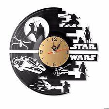 """NEW Vinyl Record Wall Clock """"Star Wars"""", cool modern, decorative art ~ 12"""""""