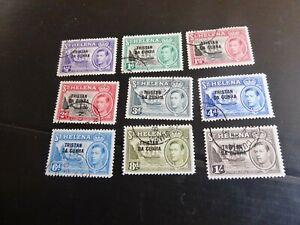 TRISTAN DA CUNHA 1954 SG 1-9  DEFINITIVES SHORT SET USED