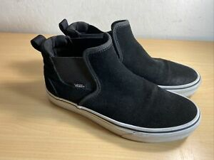 Vans Off The Wall 721356 High Top Suede Black Slip On Shoes Women's  Size 8