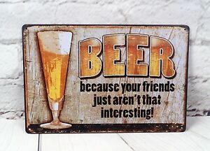 Advertising Vintage Metal Tin Sign Beer Signs Home Pub Bar Wall Poster Plaque