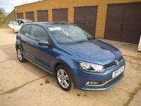 2017 vw polo 1..2 match blue motion new mot only20000 miles