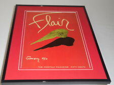 Flair Magazine February 1950 Framed 11x14 Cover Display