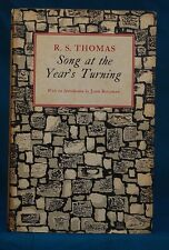 Song At Years Turning Poems by R S Thomas 1st Ptg Signed by author with Letters
