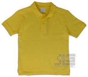 Boys Polo Shirt Short Sleeve 2 Button Uniform Cotton Pique Kids 6-12 JLGUSA NEW