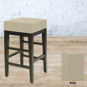 Bar Stool Cover SQUARE BACKLESS Replacement STAPLE ON Vinyl Top - Kitchen, Pub