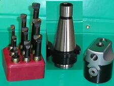 """50mm Boring Head with INT40 shank 5/8""""x11 and set of 9 12mm diameter tools"""