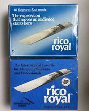 Rico Royal Soprano Saxophone Reeds, Box of 10, Strength 5
