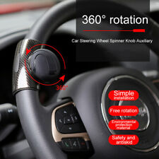 Car Steering Wheel Spinner Knob Auxiliary Booster Aid Control Handle Grip Black