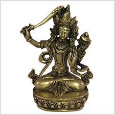 Manjushri Tara Buddha 15 cm Messing Tibet Monju Weiße Tara Grüne Tara Nepal