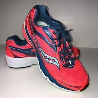 Saucony Power Grid Women's Size 8 Running Walking Shoes Pink Blue