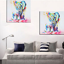 Cute Animal Elephant Art Oil Painting On Canvas Unframed Home Dining Room Decor