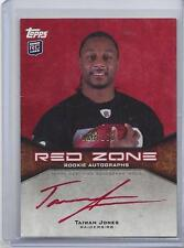 TAIWAN JONES 2011 TOPPS RED ZONE RAIDERS ROOKIE RED INK ON CARD AUTO RC #D /100