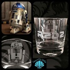 Star Wars Whiskey Glass R2D2 FREE Name Engraved Personalised Ideal Gift For Him