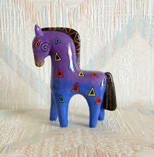 Horse Figurine Laurel Burch PURPLE HORSE New Ceramic Figurine Statue