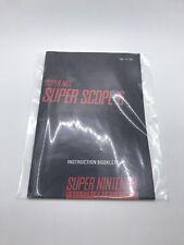 Super Scope 6 SNES Super Nintendo Instruction Manual Only