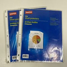 Staples Clear Sheet Protectors 50 Top Loading Letter Size 3 Ring Holes 2 25 Pks