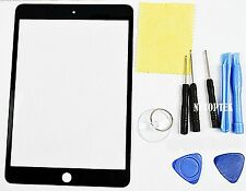 Black Outer LCD Screen Glass Lens Replacement for Apple iPad mini + 8 Tools