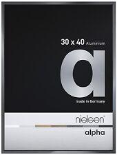Nielsen Alpha Dark Grey Polished 30X40cm Aluminium Frame