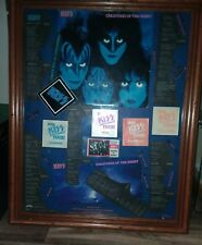 kiss backstage passes 5,10th anniversary creatures of the night album frame