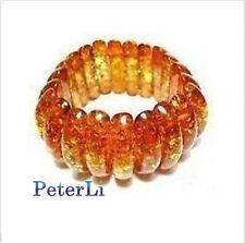 Rare Asian Genuine Tibetan Manmade Amber Bracelet Bangle