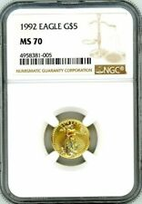 1992 $5 Gold Eagle NGC MS 70