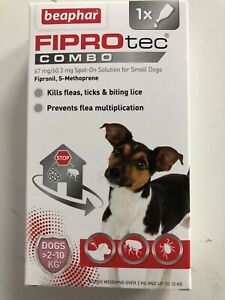 Beaphar Fiprotec Combo Spot-On Flea Treatment Solution for Small Dogs 1 Pipette.