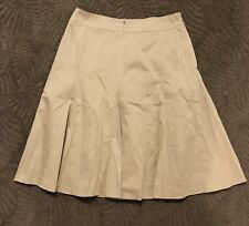 Anne Klein Stretch Panel Skirt Women's Size 4 Knee Length Lined Beige Tan Small