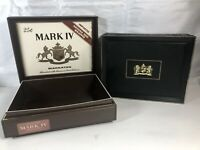 Two Mark IV Magnates Plastic Cigar Boxes-Hinged Lid 25 CENTS (Black & Brown)