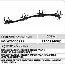 RENAULT LAGUNA-MEGANE-SCENIC-TRAFIC 1.9 DTI INJECTOR LINE 7700114802
