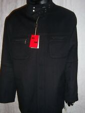 Italian Mens Casual Dress Black Wool Jacket by Mantoni  Size XL  New with Tags
