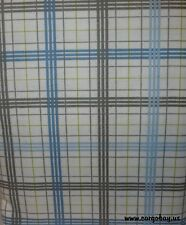 NEW BLUE & GRAY PLAID QUEEN FLANNEL SHEET SET FREE SHIPPING @ CARGO BAY SHEETS