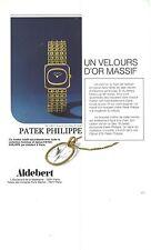 PUBLICITE AVERTISING  1974  PATEK PHILIPPE  montre                        011112