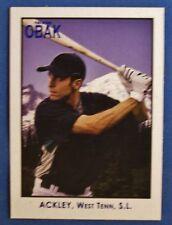 DUSTIN ACKLEY 2010 TRISTAR OBAK RC #1 SEATTLE MARINERS ROOKIE CARD