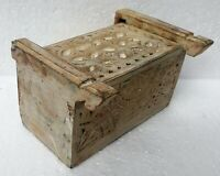 Antique Design Wood Box Hand Made Carved Unique Trinket Jewelry Box Collectible