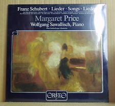 LP Margaret Price Wolfgang Sawallisch Schubert canzoni Orfeo digital 81 NUOVO & OVP