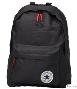 Converse Day Pack BackPack Rucksack Gym School Bag Black BNWT 5256S