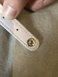 Authentic chanel Strap With Two Gold Snap Button Attachements For Bag Repair