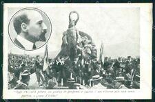 Propaganda Gabriele D'Annunzio Quarto Genova Garibaldi cartolina XF6803