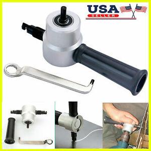 Double-Head Sheet Metal Cutter Nibbler Cutting Tool Saw Power Drill Attachment
